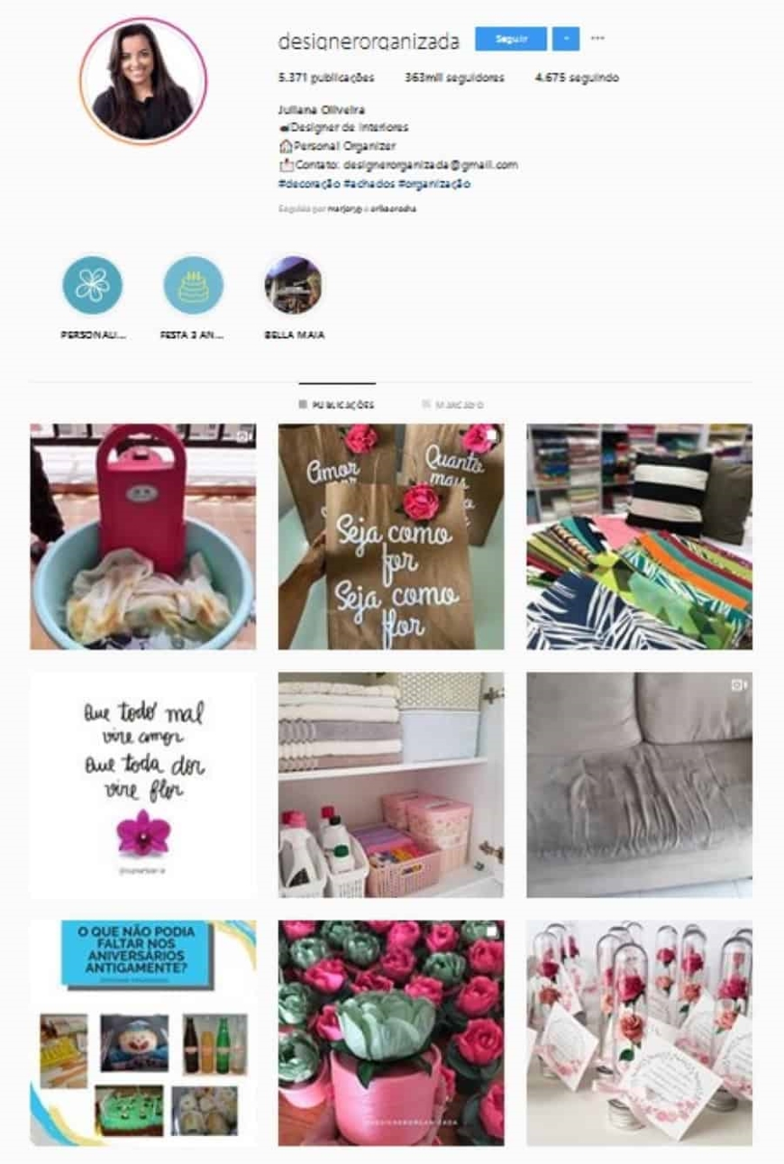 designer de interiores instagram
