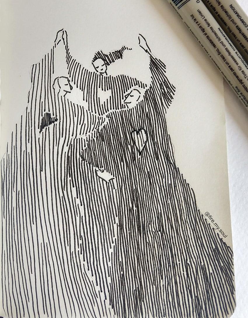 hachura no desenho - espaçamento