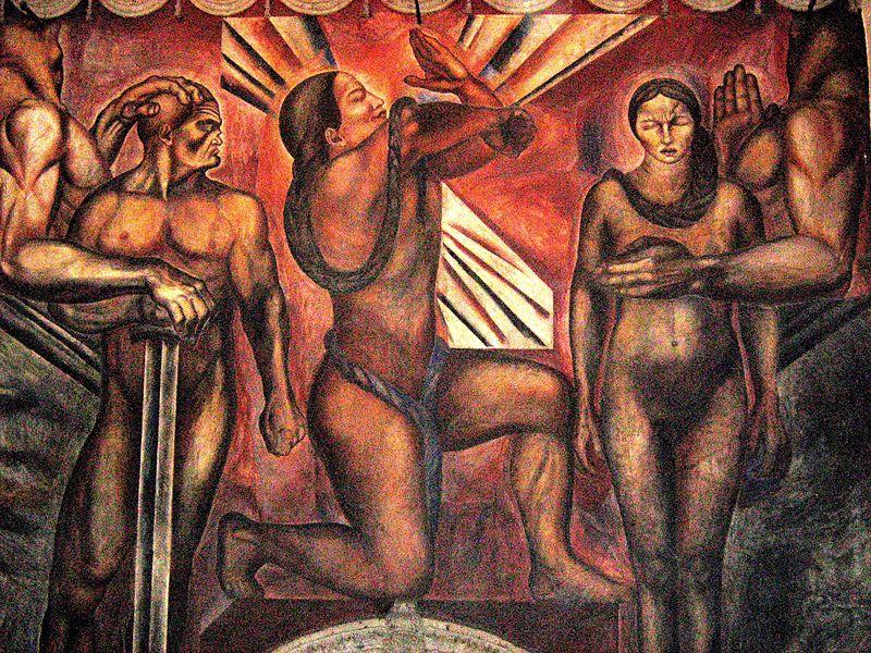 """Mural """"Omnisciencia"""" - José Orozco"""